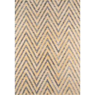 """Momeni Caravan Hand Woven Yellow Wool Area Rug - 5' X 7'6"""" For Sale"""