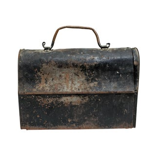Antique Industrial Metal Lunch Box