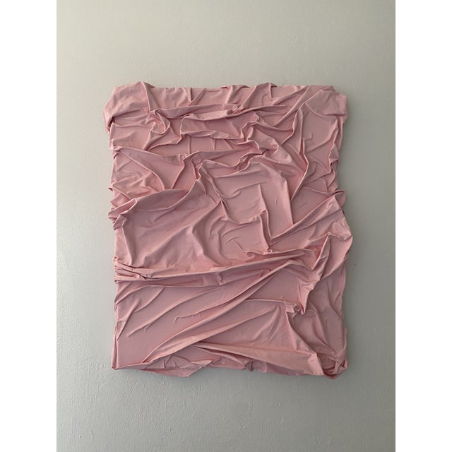 Contemporary Minimalist Light Pink Abstract Textural Painting by Jordan Samuels For Sale - Image 10 of 11