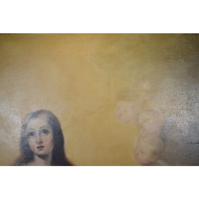 """""""The Immaculate Conception"""" Oil Painting After Giovanni Battista Tiepolo For Sale - Image 11 of 13"""