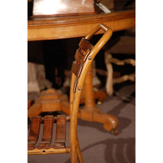 Painted Bakelite Slat Stacking Chairs, England, circa 1940 For Sale - Image 9 of 11