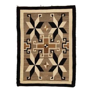 1920s Vintage Navajo Rug - 4′ × 5′6″