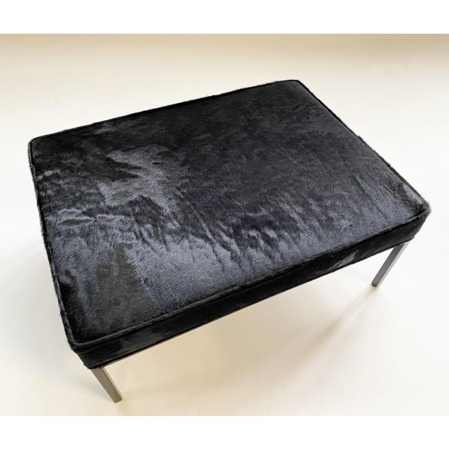 The Forsyth Ottoman in Brazilian Cowhide For Sale - Image 12 of 13