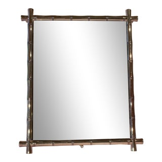 Vintage Silver-Plate Bamboo Picture Frame For Sale