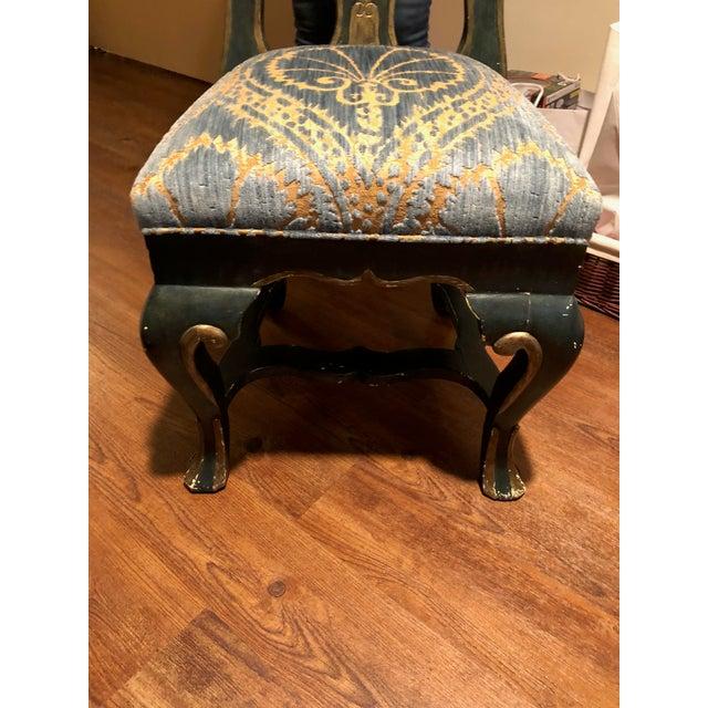 Art Nouveau Contemporary Michael Taylor Portuguese Velvet Side Chairs - a Pair For Sale - Image 3 of 6