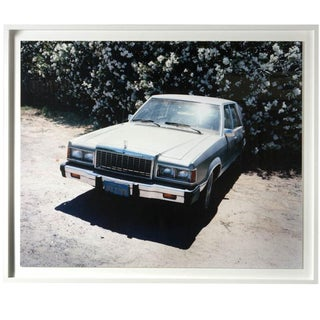 Old Ford and Flowers Framed Photograph For Sale