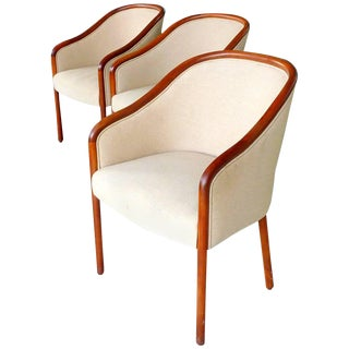 Walnut Banker Chairs by Ward Bennett for Brickel For Sale