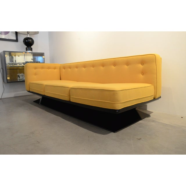 Upholstered in a New Yellow Knoll Wool MIM Roma (Ico Parisi) Sectional Sofa by Luigi Pellegrin - Image 9 of 10