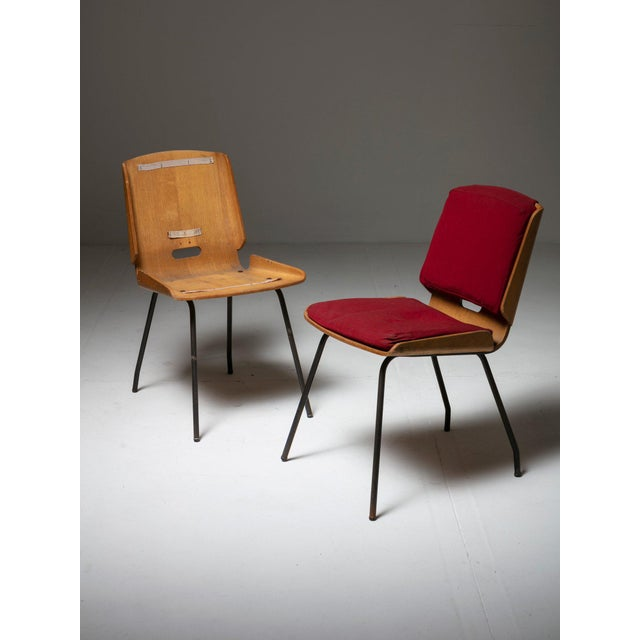 """Mid-Century Modern Pair of """"Lucania"""" Chairs by Giancarlo De Carlo for Arflex For Sale - Image 3 of 8"""