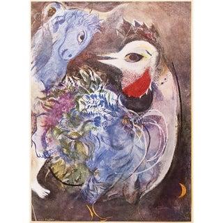 """1947 Marc Chagall Original """"Les Plumes en Fleurs"""" Parisian Period Lithograph For Sale"""