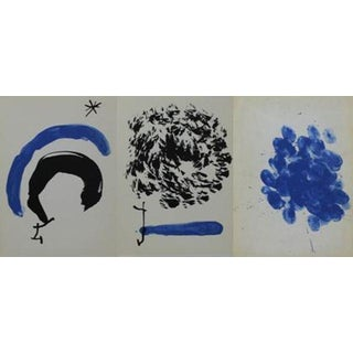 1962 Joan Miro Lithographs- Set of 3 For Sale