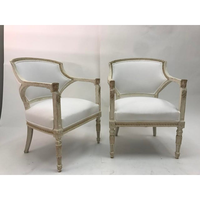 Gustavian Chairs With Pharaoh Heads - A Pair For Sale - Image 9 of 9