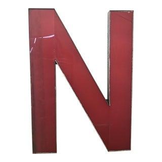 Advertising Sign Letter 'N' For Sale