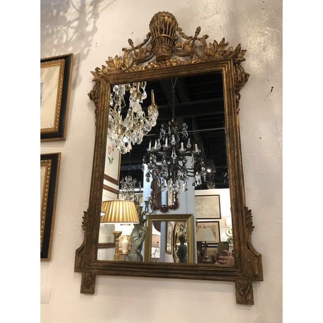 Gilt Mirror With Balloon Basket Frieze For Sale - Image 12 of 13