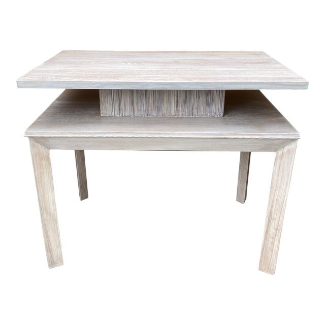 Whitewashed Side Table by Paul Frankl For Sale