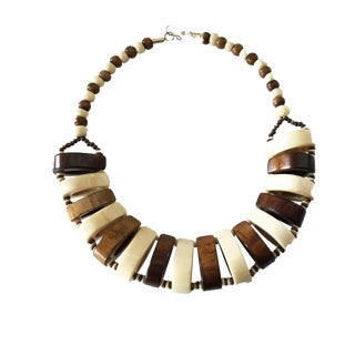 African Tuareg Bone Ceremonial Necklace For Sale