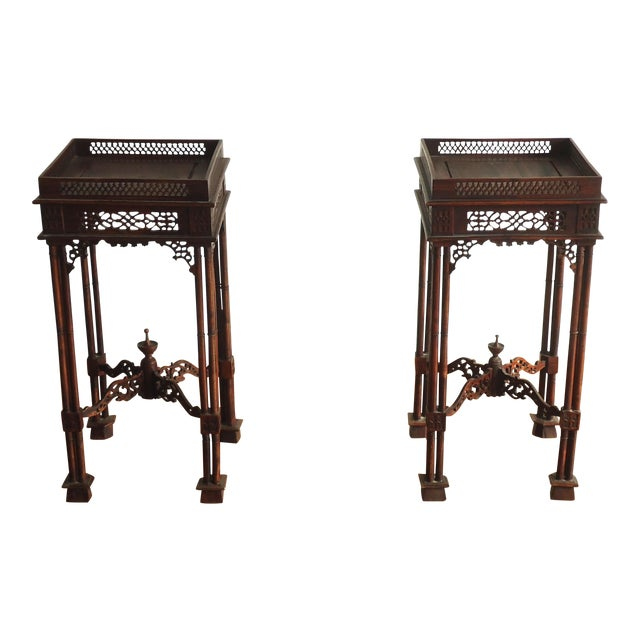 Vintage Southeast Asian Side Tables - A Pair - Image 1 of 10