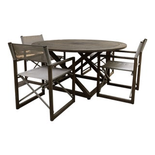 Outdoor Dining Table and Chairs For Sale