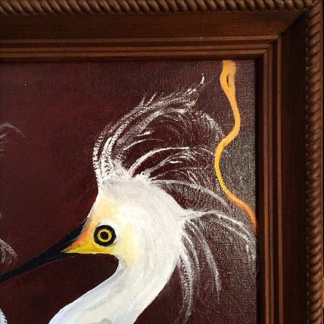"""Birds of a Feather"" Original Oil Painting - Image 7 of 7"