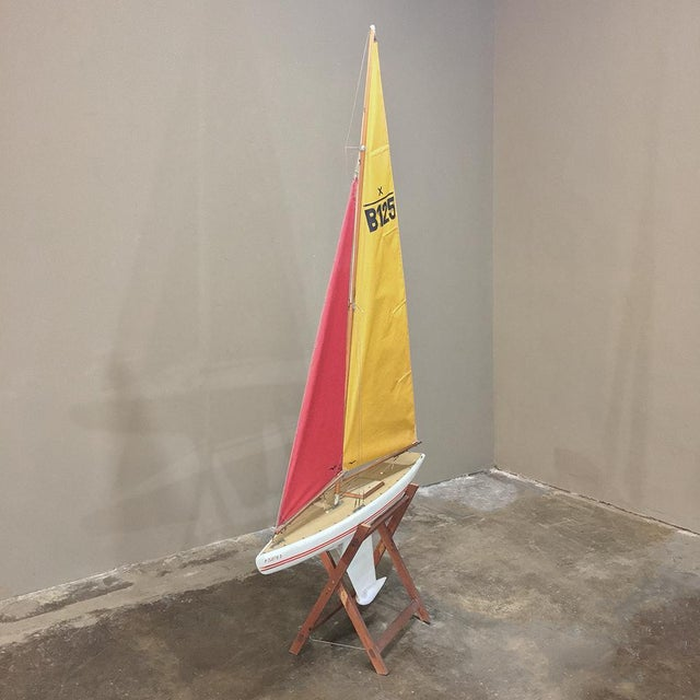 Mid-Century Scale 12 Meter Racing Yacht For Sale - Image 4 of 11