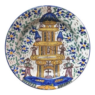 Antique Persian Faience Charger For Sale