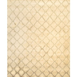 Modern Moroccan Rug - 9′ × 10′ For Sale