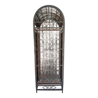 1950s 72 Bottle Wrought Iron Wine Rack For Sale