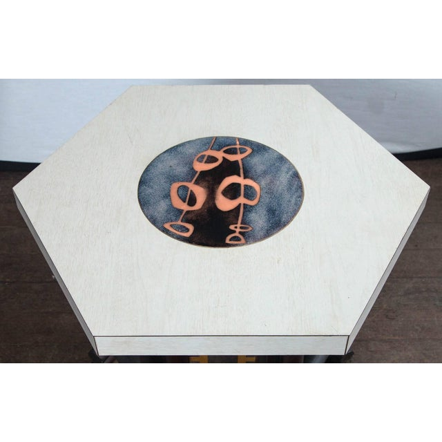 Asian 1950s Vintage James Mont Style Asian Modern Side Table For Sale - Image 3 of 11