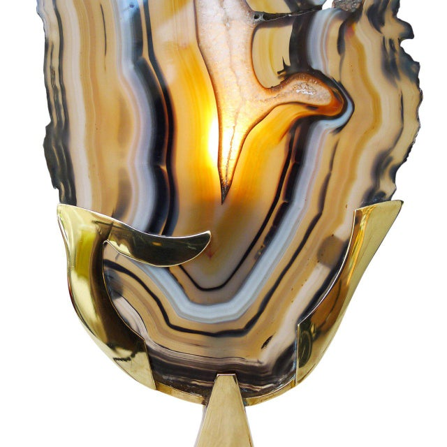 Willy Daro Agate Table Lamp by Willy Daro For Sale - Image 4 of 5