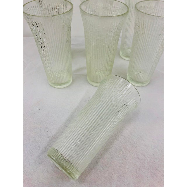 Vintage Faux Bamboo Style Cocktail Tumbler Highball Glasses - Set of 7 For Sale - Image 9 of 11