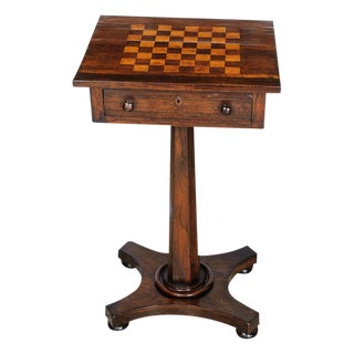 Side table with inlay top