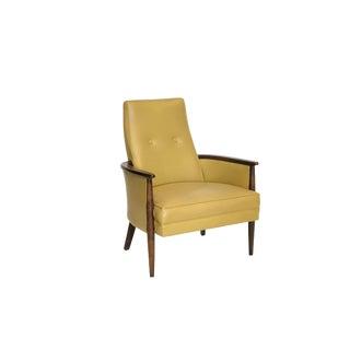Mid Century Modern Walnut Framed Chair For Sale