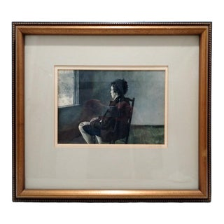 """Andrew Wyeth (American, 1919-2009) """"Up in the Studio"""" Signed Metropolitan Museum of Art Lithograph For Sale"""
