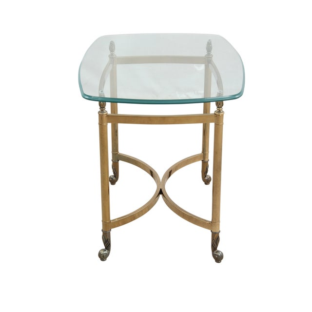 Maison Jansen Attributed Brass & Glass Table - Image 4 of 4