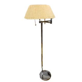1960s Mid Century Modern Von Nesson Chrome Swing Arm Floor Lamp Eames Era