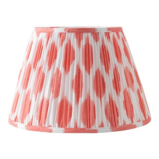 "Signature Ikat in Coral 10"" Lamp Shade, Peach For Sale"