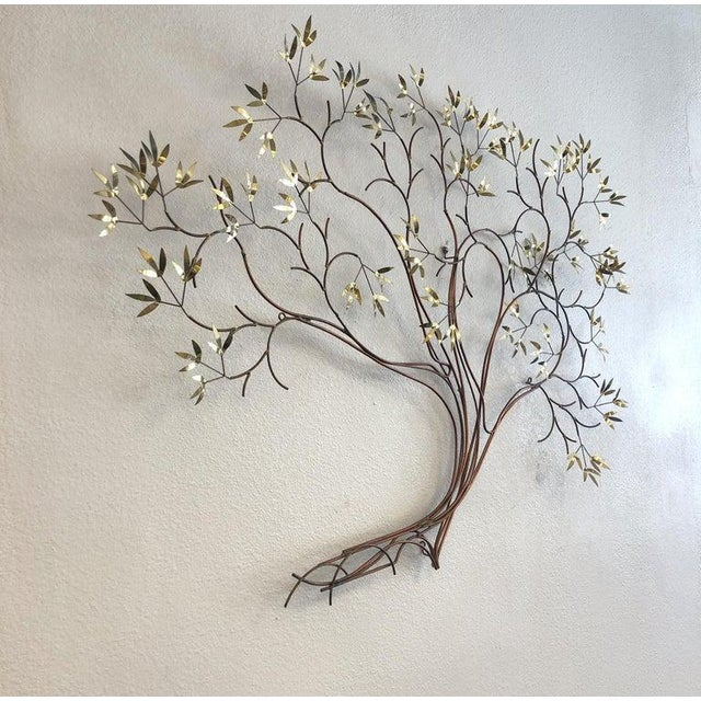 Curtis Jere Copper and Brass Tree Wall Sculpture by Curtis Jeré For Sale - Image 4 of 8