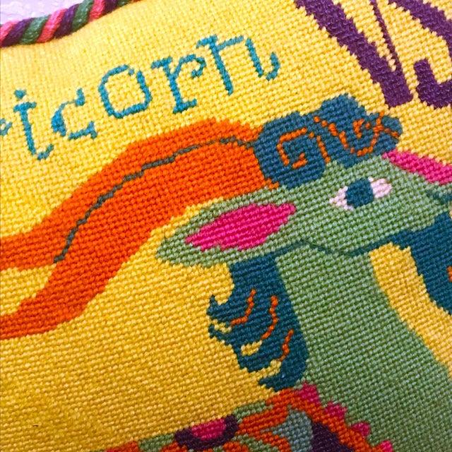 Jonathan Adler Style Vintage Celestial Capricorn Needlepoint Pillow - Image 2 of 6