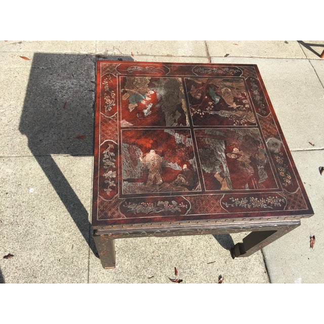 Baker Furniture Chinoiserie Side Table - Image 2 of 8