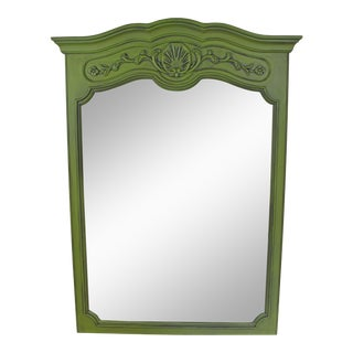 Vintage Green Mirror For Sale