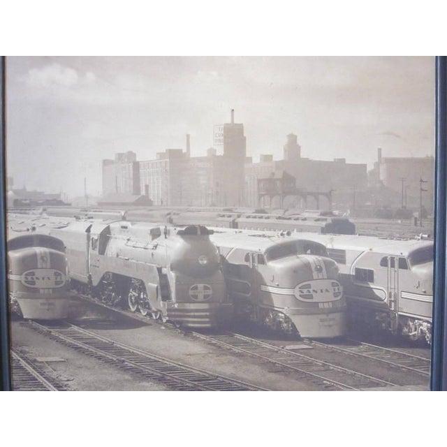 Mid-Century Modern Streamline Chicago Train Railroad Photo For Sale - Image 3 of 5