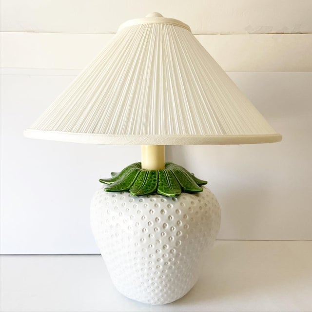 Italian Strawberry Lamp & Shade For Sale - Image 10 of 10