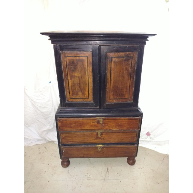 1920s Anglo Indian Ebony and Satinwood Cupboard For Sale - Image 12 of 12