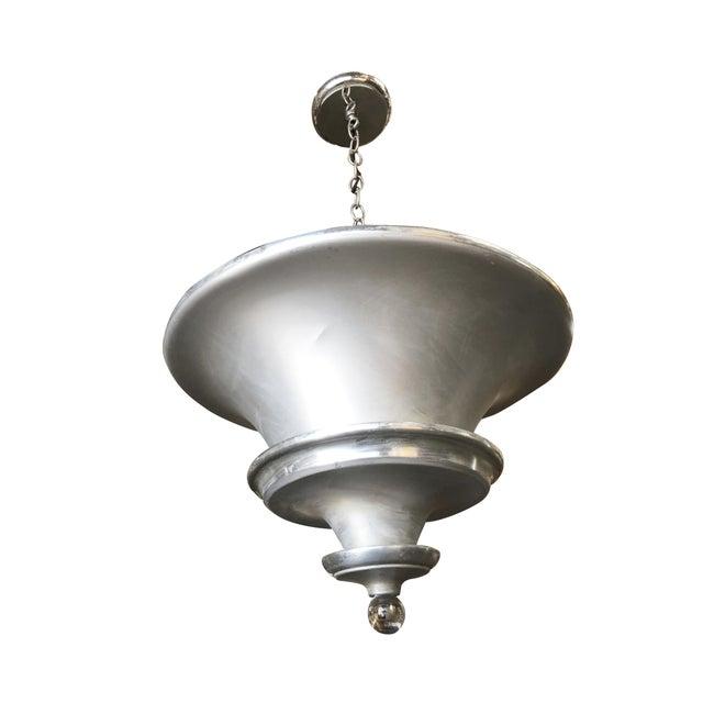 Art Deco Spun Aluminum Multilevel Acorn Ceiling Pendant Lamp For Sale In Los Angeles - Image 6 of 6