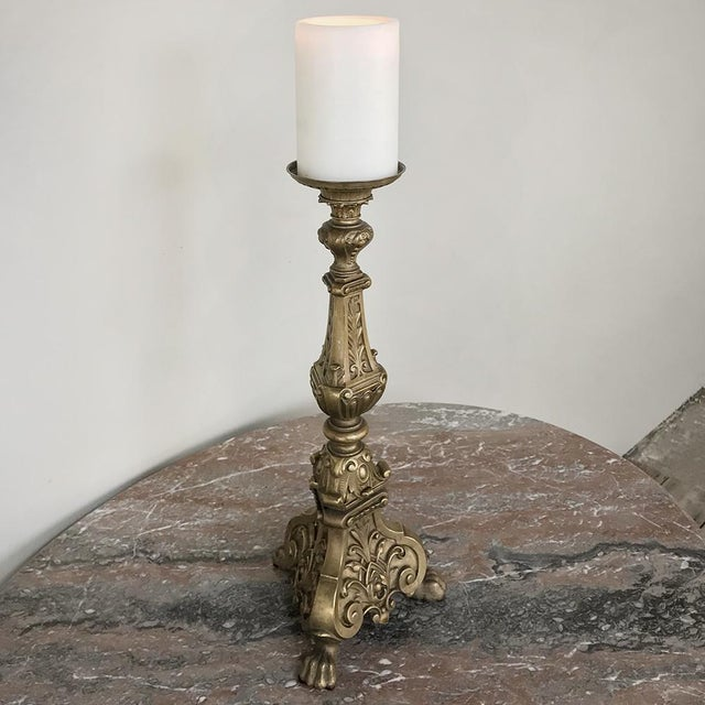 Louis XIV 19th Century Bronze Candlestick For Sale - Image 3 of 11