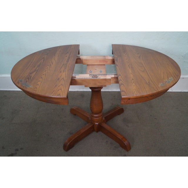Hitchcock Round Oak Pedestal Dining Table