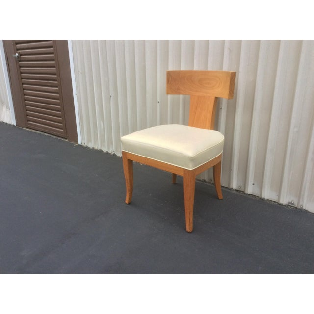 Mid Century Style Ceres Chair With Leather Seat by Ironies For Sale - Image 10 of 11