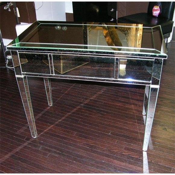 2000 - 2009 Custom Mirrored Desk For Sale - Image 5 of 8
