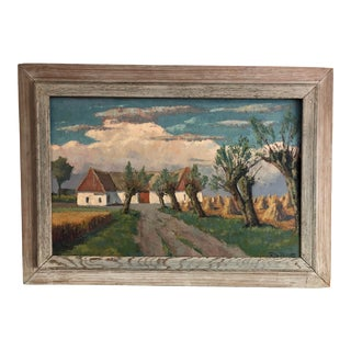 Mid-Century Swedish Landscape Painting For Sale