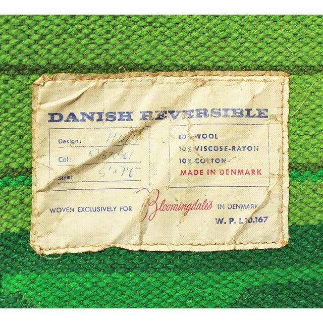 "Mid-Century Danish Reversible Rug - 7'5"" x 5' - Image 4 of 4"